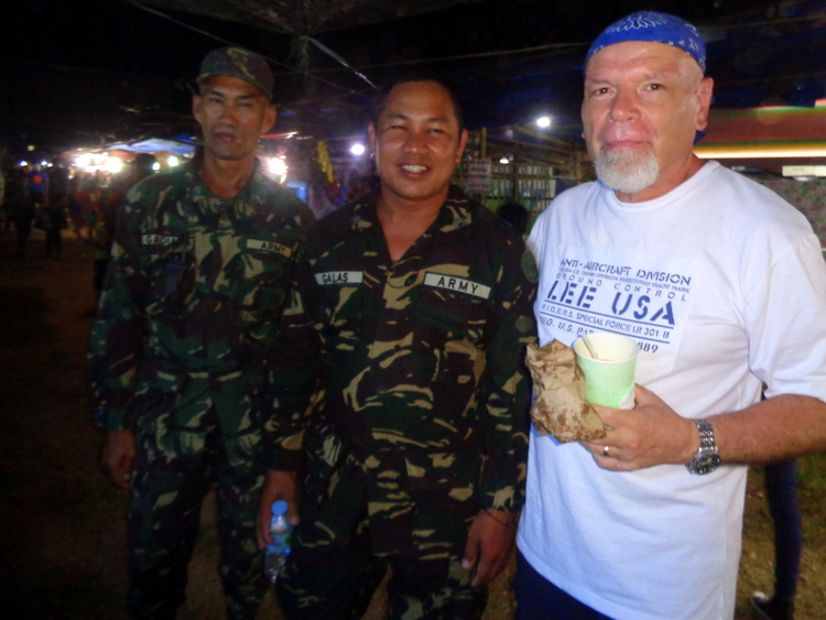 Hanging out with Army officers at Manggahan Festival Guimaras - Viva Hot Babe DJ Jennifer Lee Rocks Manggahan 2019
