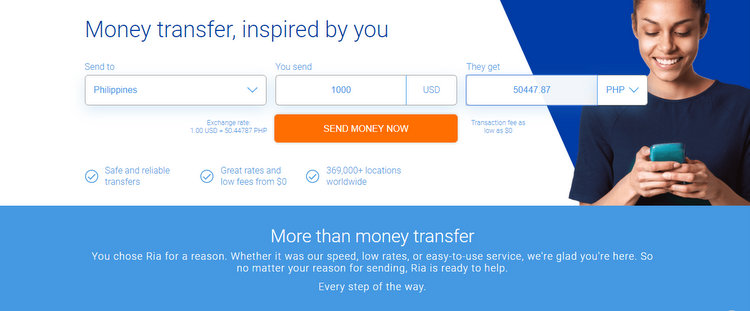 Send Money Online International Money Transfer Ria Money Transfer - Cheapest Money Transfer Services