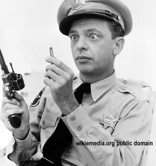 Don Knotts Barney and the bullet Andy Griffith Show 315x334 - Barney Fife in the Philippines! Police seal muzzles of firearms for New Year revelry!