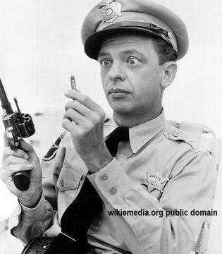 Don Knotts Barney and the bullet Andy Griffith Show 315x360 - No Taping of Cop's Gun Muzzles New Year's Eve