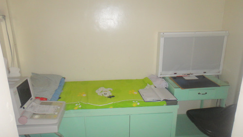 The ultrasound room at the healthcare clinic