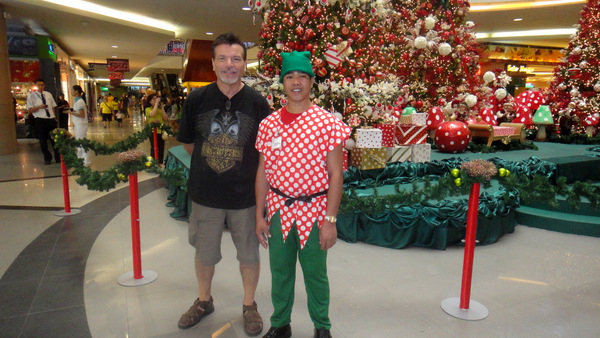 Santa's Elf is on the Right.