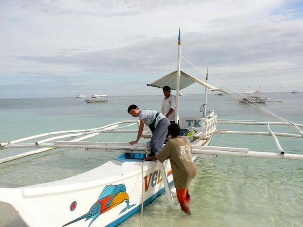 island hopping pump boat