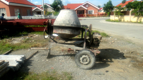Concrete mixer in the Philippines