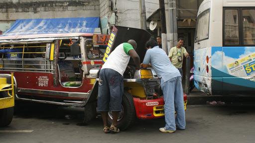 Broken down Jeepney