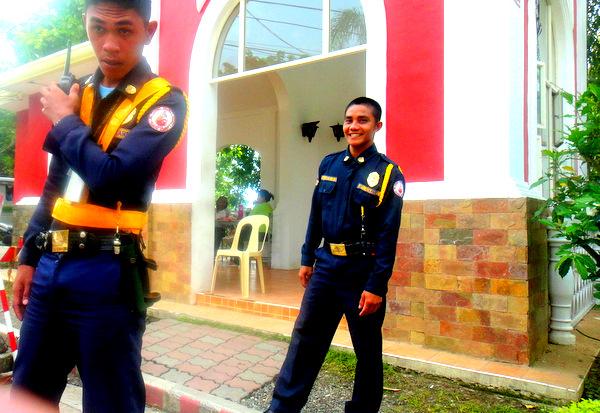 Security guards in Iloilo