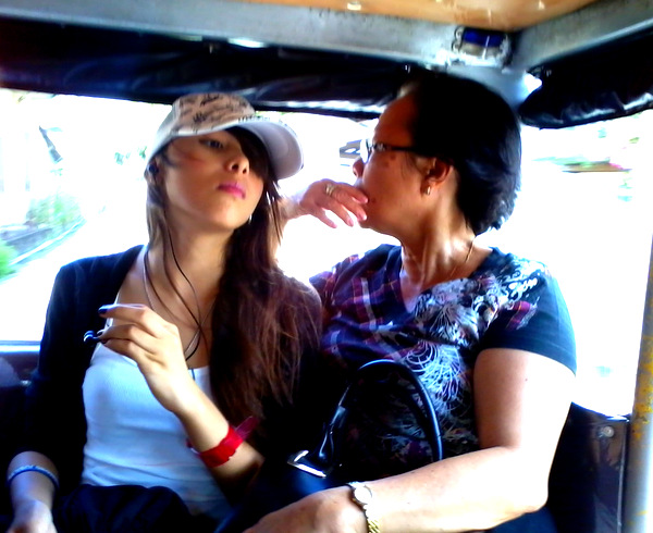 Jeepney girl and lola