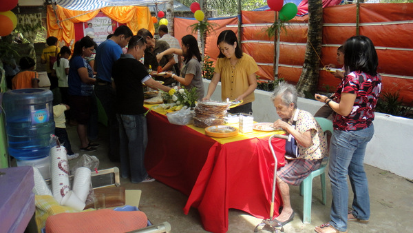 Lots of food at party in Guimaras