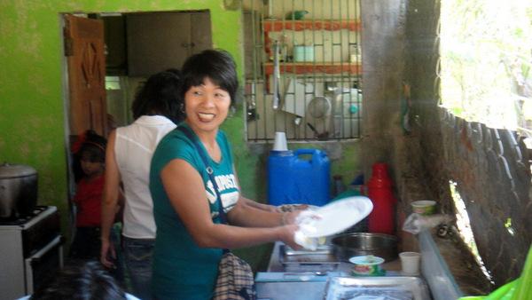 Melinda in the kitchen