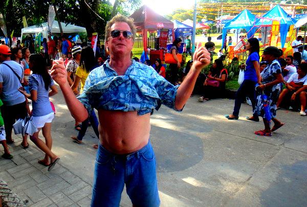 Fearless Frank from Florida at the Manggahan Festival