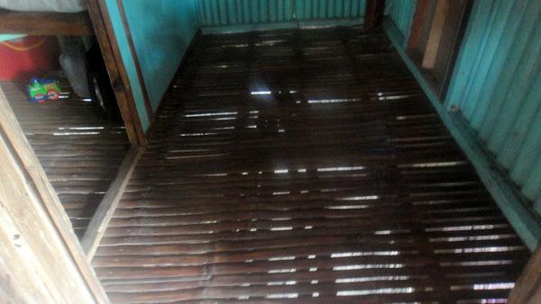 Nipa hut floor
