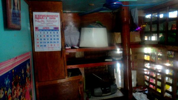 Nipa hut shelving