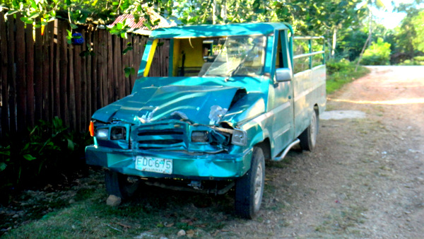 Our neighbor's battered truck in Guimaras