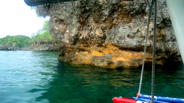 Beautiful rock formations on the island hopping tour
