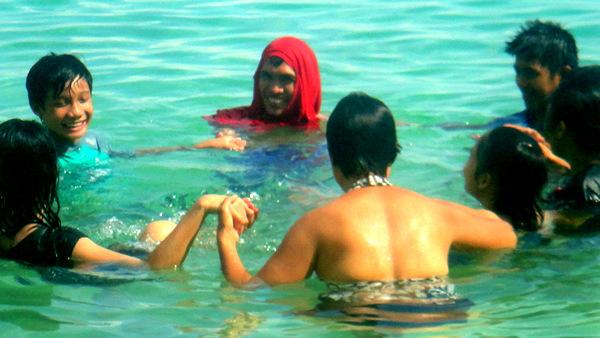 Fun in the water at Raymen Beach Resort in Guimaras