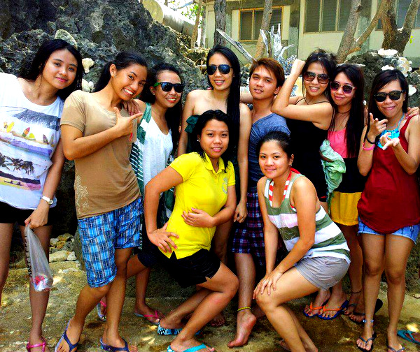 April and friends on island hopping tour