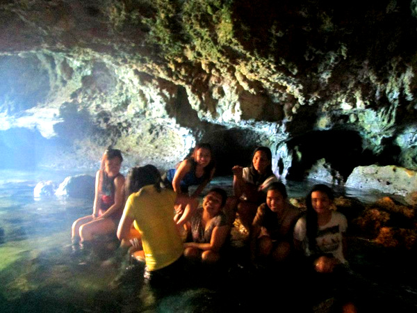 Guimaras island hoppers in the cave