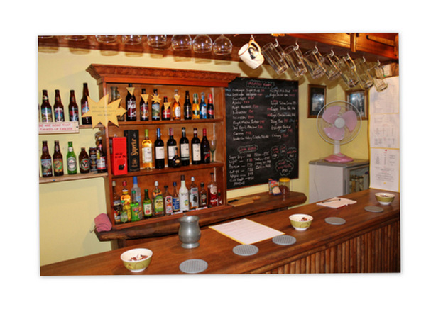 The well-stocked bar at the Bistro