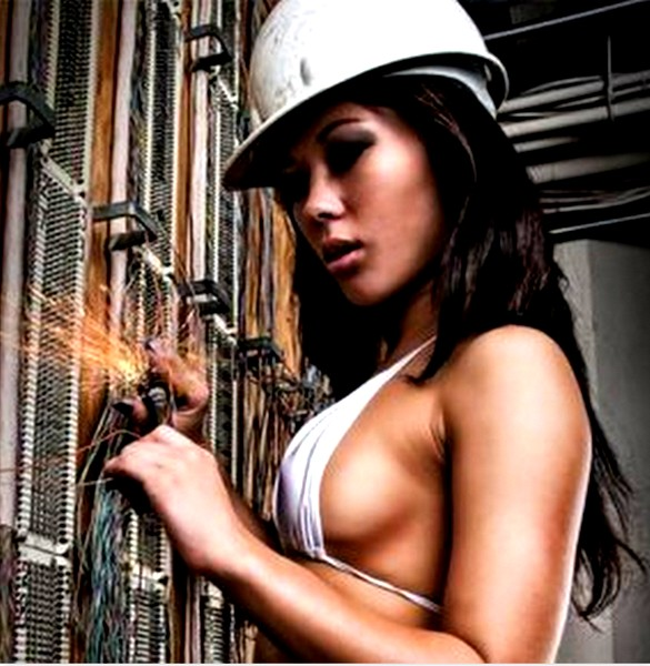 Sexy Asian electrician