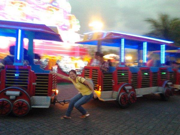 Belinda having fun at the Mall of Asia