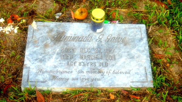 Cousin Emma's Mother's Resting Place