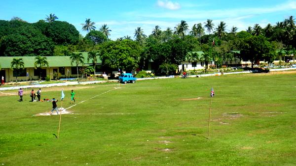 High school baseball field in Guimaras