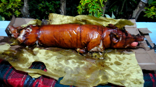 Lechon was served