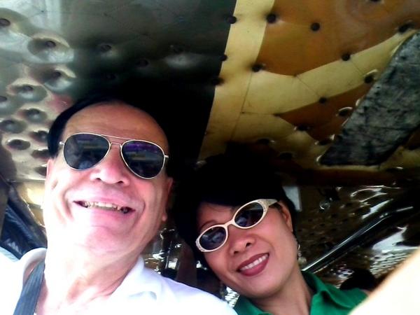 selfies on the jeepney