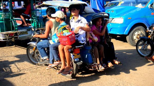 The trike ride back home to Santa Teresa
