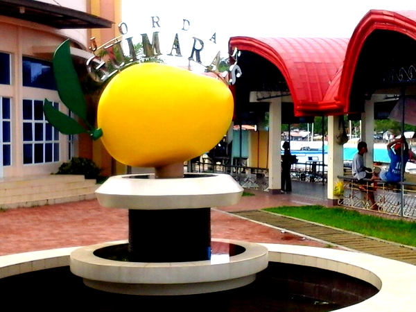 Big mango at Jordan Wharf Visitors Center in Guimaras