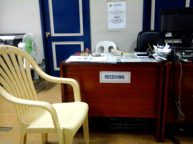 Inside the Bureau of Immigration in Iloilo