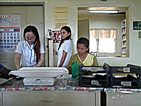 Outpatient nursing staff at Guimaras Provincial Hospital