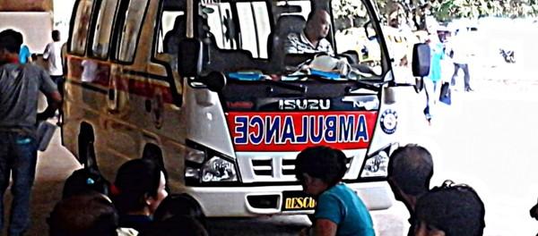 ambulance leaving guimaras provincial hospital