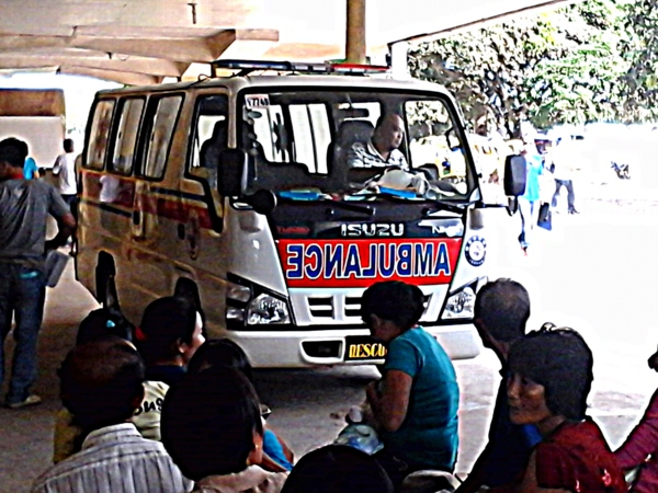 ambulance leaving guimaras provincial hospital
