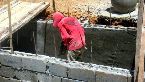 doing a concrete finish
