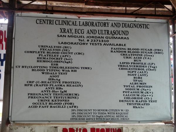 lab service Centri Clinical Lab Guimaras