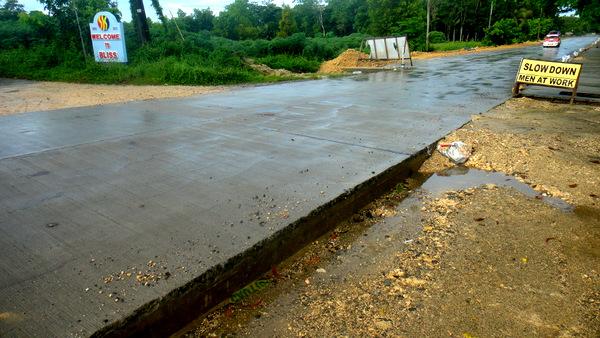 new road construction in guimaras