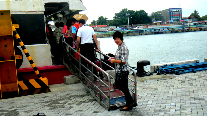 my asawa boarding the supercat ferry to bacolod