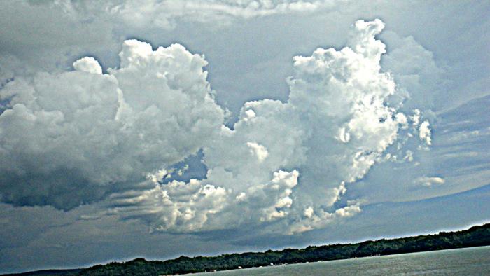 storm clouds were brewing over the iloilo strait
