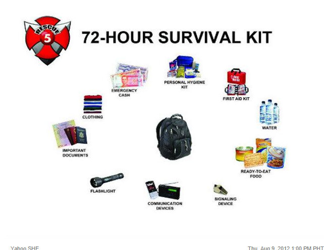 72-Hour Survival Kit by Rescue 5 (TV5)