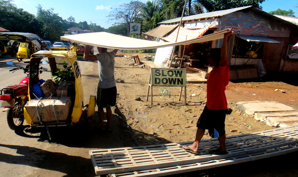 new plywood for the nipa hut in the Philippines