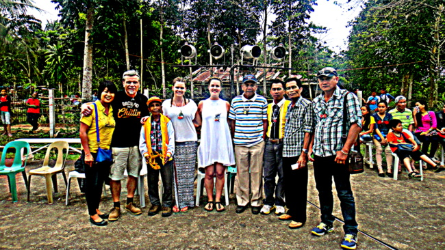 Vistors from Sweden and the Barangay Officials