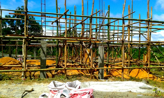 scaffolding for our new home in the philippines