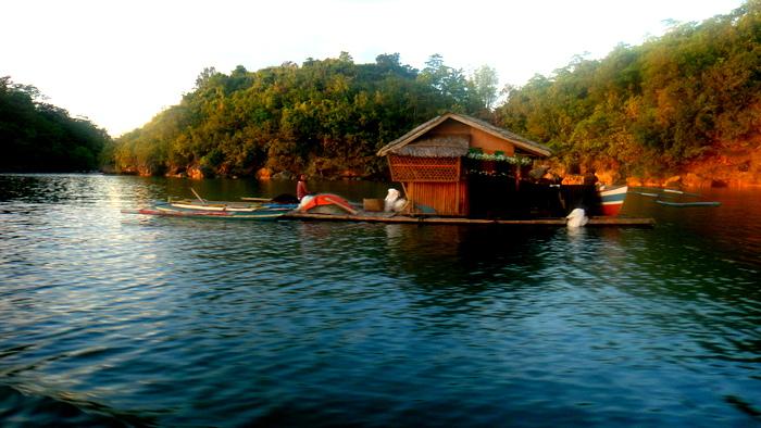 floating houseboat near Guimaras