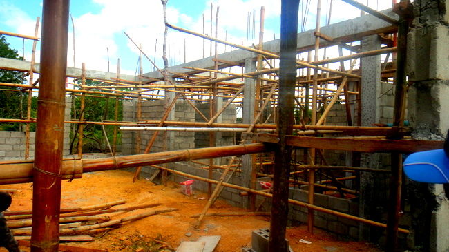 inside view of the construction of our new home in the Philippines