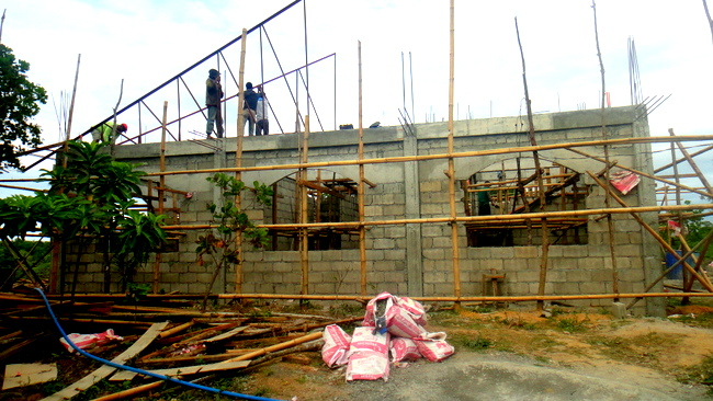 rear view of our new home in the Philippines