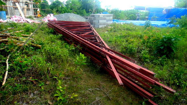 steel trusses for our new home in the Philippines