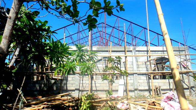the trusses are almost done
