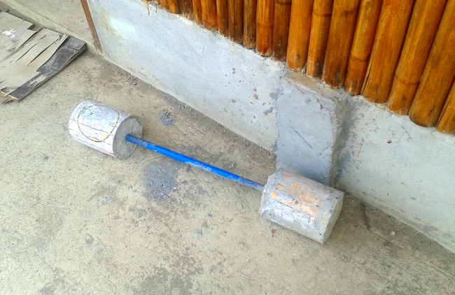 homemade barbell set in the Philippines