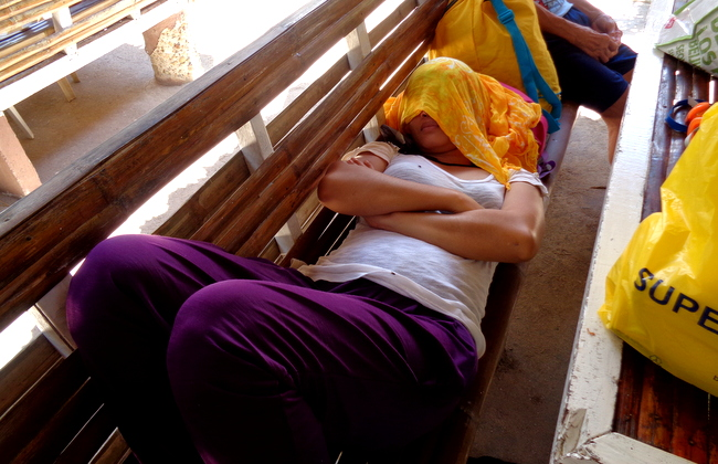 Alida catches a nap
